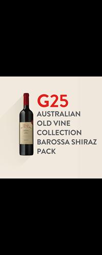 G25 Australian Old Vine Collection Barossa Shiraz Pack
