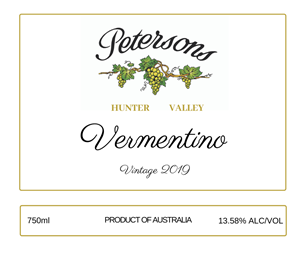 2019 Hunter Valley Vermentino