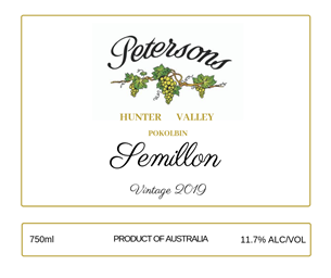 2019 Semillon - Pokolbin Hunter Valley