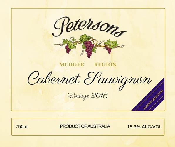 2016 Mudgee Cabernet Sauvignon - Alison's Selection