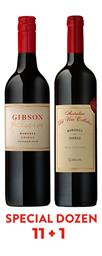 11 + 1 2018 Reserve Shiraz + 2016 Australian Old Vine Collection Barossa Shiraz