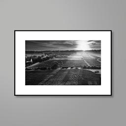 Print: Henschke Hill of Grace Vineyard, Aerial Photograph