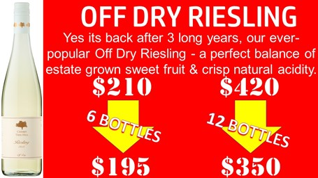 Off Dry Riesling Case Special