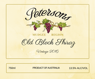 2016 Old Block Shiraz