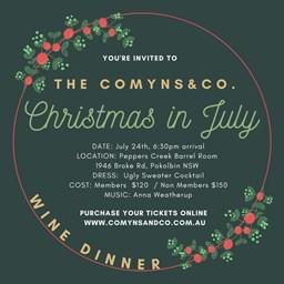 Christmas in July Wine Dinner