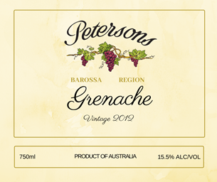 2012 Barossa Grenache